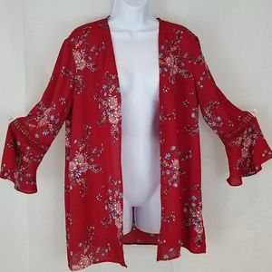 PINK ROSE  Duster, Cover Up, Pool, Beach, Floral